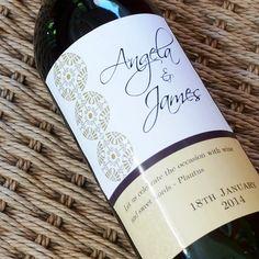 Custom Wine Labels  wedding anniversary with by nancynikkodesign, $36.00