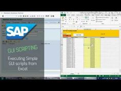This video covers SAP GUI Scripting basics, recording a script and running it from MS Excel using my example. The Excel example shown in this video can be do. Excel For Beginners, Progress Monitoring, Accounting Software, Data Sheets, Social Services, Data Collection, Microsoft Excel, Autocad, Youtube