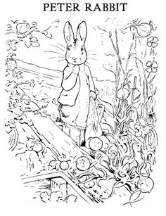 St Aidens ~ Beatrix Potter's Peter Rabbit Printables & Colouring pages