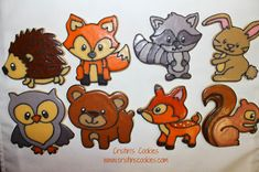 Cristin's Cookies: Forest Animal Cookies for Baby Aidan & New ...