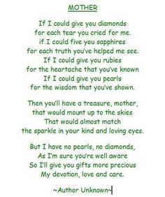 my mom quotes and poems | Poems For Mom. 2011 love poems for mom from