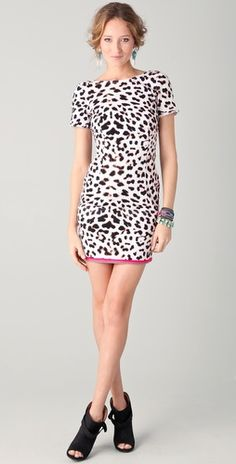cute dress with the little pink peeking out from the bottom..