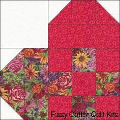 patchwork heart quilt block