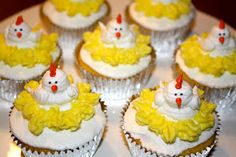 Chicken Cupcakes - I have a fondness for this cupcake design