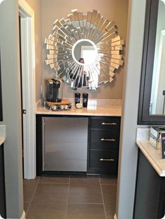 coffee station in master bathroom? – Home coffee stations Master Closet, Closet Bedroom, Master Bathroom, Bedroom Decor, Mirror Bathroom, Master Suite, Coffee Bar Home, Home Coffee Stations, Coffee Bars