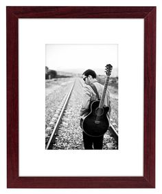 8x10 Brown Wood Picture Frame - Made to Display Pictures 5x7 with Mat or 8x10 Without Mat - Made for Desktop, Vertical and Horizontal Wall Display * Check out this great product. (This is an affiliate link) #PictureFrames