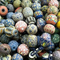 Viking Mix Product Description Indonesian Glass Beads Reproduction of ancient beads Approx. 19 x 22 mm