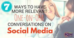 7 Ways To Have More Relevant One-on-One Conversations on Social Media - Kim Garst Social Media Marketing Business, Email Marketing Strategy, Online Business, Social Media Training, Social Media Tips, Social Media Engagement, Social Platform, Conversation, Infographics
