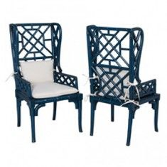 Candelabra Home Bamboo Wing Back Chair (Set of 2)