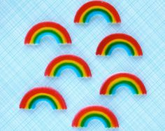 Rainbow Cupcake Toppers 2 Party Circles Favor by iheartcupcakestoo