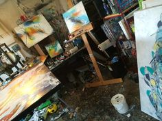 In the studio!! #art #artist #abstract #nc