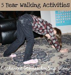 5 Bear Walking Activities for Kids - 3Dinosaurs.com Bear Activities Preschool, Gross Motor Activities, Gross Motor Skills, Preschool Classroom, Classroom Activities, Preschool Lessons, Classroom Ideas, Teddy Bear Day, Teddy Bears
