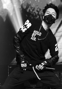 J Hope wearing Respro® Sportsta™ Mask  #respro http://respro.com/store/product/sportsta-mask