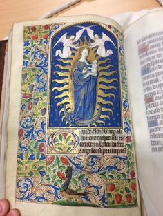 This is MS 43, a 15th century book of hours, use of Sarum, executed in Northern France.