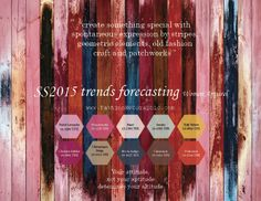 SS2015 trends forecasting for Women Apparel - create something special with spontaneous expression by stripes, geometric elements, old fashi...