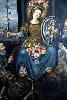 La Madonna di Lepanto nella Chiesa del Rosario. Il dipinto è un omaggio alla Vittoria della battaglia di Lepanto