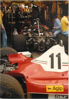 Ferrari garage at the 1977 Swedish Grand Prix