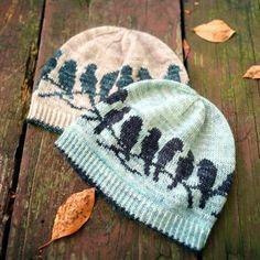 PDF Knitting Pattern Passerine Hat Best Picture For fair isle knittings motifs For Your Taste You ar Knitting Patterns, Crochet Patterns, Free Knitting, Knit Crochet, Crochet Hats, Fair Isle Knitting, Yarn Crafts, Knitting Projects, Knitted Hats