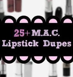 25  MAC Lipstick Dupes
