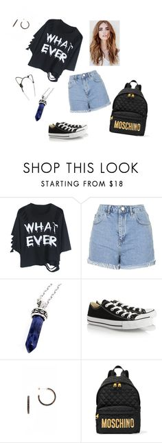 """"" by karla-renne on Polyvore featuring moda, Topshop, Bellini, Converse, Michael Kors, Moschino, Eugenia Kim, women's clothing, women's fashion y women"