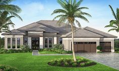 Mediterranean homes – Mediterranean Home Decor House Plans One Story, One Story Homes, Best House Plans, Story House, Mediterranean House Plans, Mediterranean Style, Florida House Plans, Villa, Contemporary House Plans