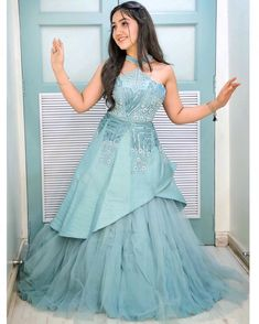 She looks more beautiful in every photo of her🌷 Indian Bridal Outfits, Indian Designer Outfits, Designer Gowns, Designer Wear, Beautiful Casual Dresses, Stylish Dresses, Awesome Dresses, Fashion Dresses, Stylish Girl Images