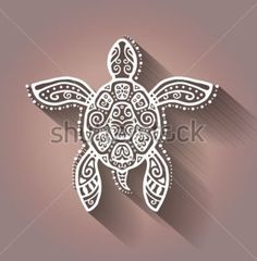 Decorative Graphic Turtle Tattoo Style Tribal Stock Illustration 182953004 - Decorative graphic turtle, tattoo style, tribal totem animal, raster illustration, lace pattern by - Trendy Tattoos, New Tattoos, Body Art Tattoos, Small Tattoos, Cool Tattoos, Tatoos, Ocean Tattoos, Sleeve Tattoos, Simbols Tattoo