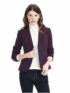 Women's Apparel: blazers | Banana Republic: a gorgeous colored blazer for fall!