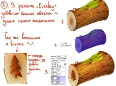 Drawing wood in Paint Tool SAI
