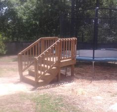 DIY Trampoline Stairs | Home Is Where Your House Is | Pinterest |  Trampolines, Backyard And Yards