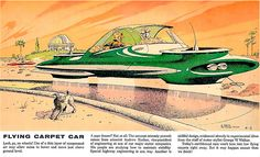 "The Hovercar 1958. The article states that this is ""no pipe dream!"""