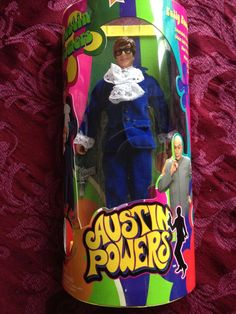 Austin Powers Fully Poseable Doll 1998 Movie 4 Sounds Smashing Baby! Oh Behave!
