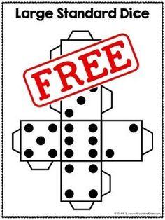 FREE Math Center Dice - Printable DIY templates!