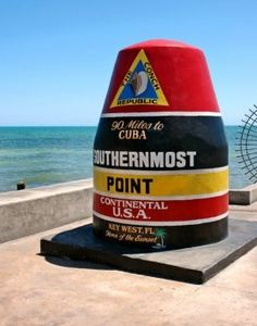 This is the Southernmost part of the United States-you are 90 miles from Cuba standing at this point