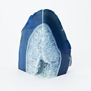 agate bookends in blue and green // west elm $19.