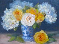 """Painting Flowers Alla Prima Workshop"" - Original Fine Art for Sale - © Pat Fiorello"