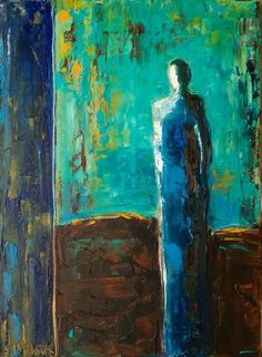 """The Blues"" by Shelby McQuilkin #art #turquoise"