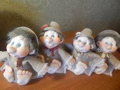 Текстильные куклы Ольги Чечёткиной