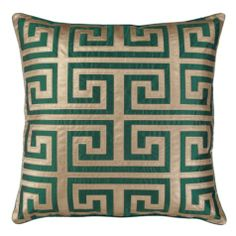 "Mykonos Pillow 24"" - Emerald 