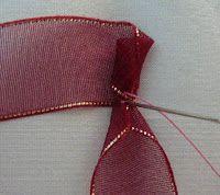 Шелковой лентой Вышивка: Учебник - в сложенном виде ленты Rose