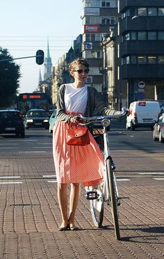 impossibly beautiful women riding vintage and pseudo-vintage - things to apply a grammar of the visual to.