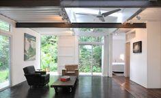 Diseño de interiores de casa contenedor