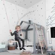 """Seriously cute kids room by /jujuzozokids/ #kidsroominspo #kidsroomideas #boysroom #unisexkids #housebed #kidsbed"" Photo taken by @hidesleep on Instagram, pinned via the InstaPin iOS App! http://www.instapinapp.com (01/22/2016)"