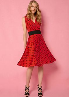 Bright polka dots wrap dress in jersey fabric by pepperose seemore in :http://www.aliki-victoria.gr/gr/e-shop
