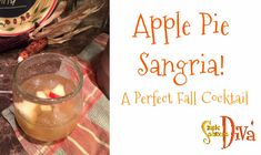 This is a perfect cocktail to serve at Thanksgiving or any Fall event! This makes a large batch – you can cut the recipe in half and have a nice amount for people. Honey Crisp Apple Pie, Wine Drinks, Alcoholic Drinks, Apple Pie Sangria, Holiday Cocktails, Sangria Cocktail, Easy Holiday Recipes, Apple Pear, Easy Halloween