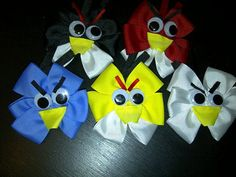 Hair bow instruction - angry birds.  Plus lots and lots and lots of tutorials on making hair bows