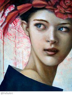 valeria Feliú - I will never see you again – Oil painting