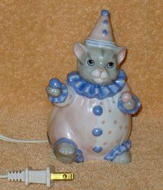 Vintage Kitty Cucumber clown night light by Catloversdream on Etsy