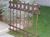 Cemetery Fence - tutorial - using dollar store items and PVC