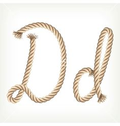 Rope alphabet letter d #projectnursery #franklinandben #nursery